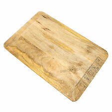 45cm Rustic Wooden Bread Cutting Serving Board Food Chopping Mat Worktop Saver