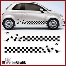 2 Pezzi Set Fiat Sticker Style punto 500 Decoro Adesivo Strisce pagine #107