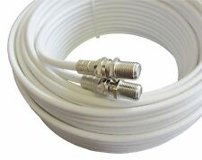 10M WHITE SKY + PLUS / HD TWIN / HUMAX / SHOTGUN SATELLITE EXTENSION CABLE COAX