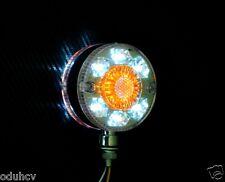 2x Blanco ámbar LED Doble Cara Perno Pedestal Luz Señal Giro para el carro DAF