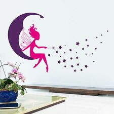 Angel Stars Wall Sticker Removable Girls room Wall Decal Kids room Decor Beauty