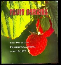 USA #3302-5 1999 33c Fruit Berries First Day Ceremony Program