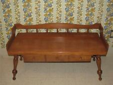 Ethan Allen Baumritter Coffee Table Bench Colonial Creations Thick Maple Wood