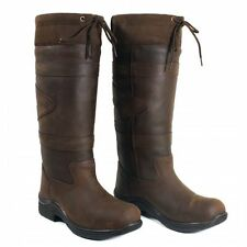 Toggi Canyon Waterproof Long Country Boots Leather Riding Brown CLEARANCE SALE