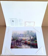 DBL-SIGN Mint THOMAS KINKADE unframed APPLE HILL VICTORIAN II Paper AP 14x18 COA