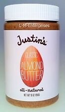 Justin's All Natural Classic Almond Butter 16 oz Justins