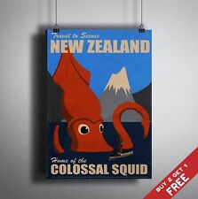 A3 Large NEW ZEALAND POSTER Tourism Vintage Retro Travel Wall Art Deco Picture
