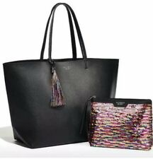NEW IN BAG Victoria's Secret 2016 Black Friday Tote With Sequin & Black Pouch