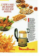 PUBLICITE ADVERTISING 0217  1985  La friteuse Moulinex