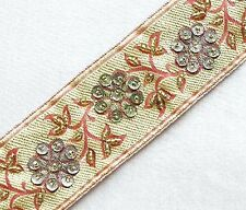 Hand-Beaded, Jacquard Trim.  Red, Gold