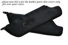 BLACK STITCH 2X SUN VISORS LEATHER COVERS FITS FIAT 124 SPIDER 1966-1977