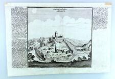 Staedlein und Schloss ALBECK, Kupferstich Bodenehr um 1700 - Langenau Ulm