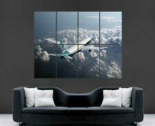 BOEING 777 AEROPLANE JET POSTER SKY FLYING LARGE PICTURE POSTER GIANT