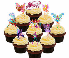 WINX Fairy CLUB COLLEGE, 36 commestibili decorazioni per cupcake, STAND-UP Cake Decorazioni
