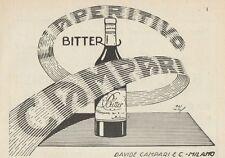 Z1036 Aperitivo Bitter CAMPARI - Pubblicità d'epoca - 1934 Old advertising