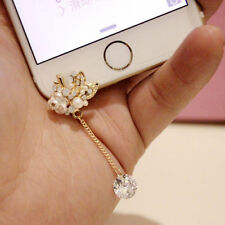 Cute White Rose 3.5mm Front Anti-Dust Ear Cap Plug For iPhone6s,6s Plus 5th,6,6+