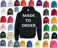 NEW UNISEX PERSONALISED PRINTED COMPANY HEN STAG CUSTOM QUALITY HOODY HOODIE