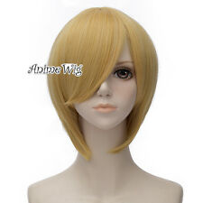 One Piece Sanji 30CM Short Straight Blonde Stylish Anime Cosplay Halloween Wig