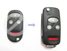 Remote Folding Key Flip Shell Case Uncut Blank For Honda Civic CR-V 3+1 Buttons
