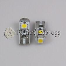 2 x Bombillas 3 LED SMD Blanco Calido CANBUS T10 W5W Coche Posicion, interior...