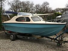 Shetland Style 16ft Day Cruiser Fishing Boat Power By 60hp Mercury