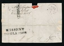 SCOTLAND 1831 MISSENT TO GLASGOW on PIECE from RIGGEND AYRSHIRE + AIRDRIE 1 LINE