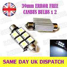 39mm Number Plate Bulbs 6 SMD C5W 239 Error Free Canbus HID White SEAT BMW
