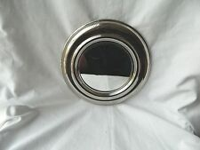 "Egyptian Brass Silver Plated Round Wall Hanging Handmade Mirror 8.75""  Sale!"