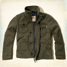 NEW HOLLISTER ABERCROMBIE VINTAGE ROCKPILE MENS JACKET OLIVE SZ MEDIUM