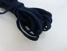 5m x 3mm Dark Navy Blue Faux Imitation Suede Cord Thong Lace Beading Necklace