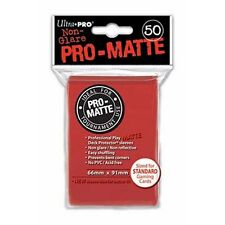 100 Ultra Pro-Matte Red Deck Protector Sleeves MTG Magic The Gathering
