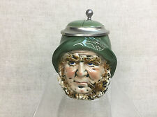 Vtg Original Figural West German Fisherman Lidded Beer Stein