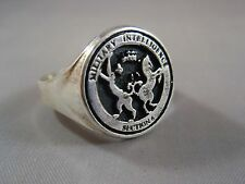Military Intelligence MI6 James Bond section 6 Secret sterling silver ring