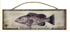 Gag Grouper Rustic Wall Sign Plaque Gifts Men Fishing Fishermen Outdoors Fish