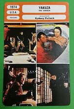 US Neo Noir Gangster Movie The Yakusa Robert Mitchum French Film Trade Card