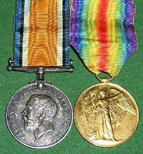 WW1 BRITISH WAR & VICTORY MEDAL PAIR,PTE WATERSON,17th MANCHESTER.R KIA 30-4-18