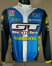 Shimano GT De Marchi Cycling Jersey Made in Italy EU Sz 2 US 40 Biking Shirt