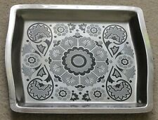 Viners stainless steel, Gerald Benney design 'Imp Floral' tray. 1970s