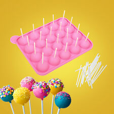 New Cake Pop Tasty Top Mold Tray Silicone Baking Flex Pan Easy Instant 20 Cup