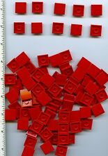 LEGO x 100 Red Tile 2 x 2 with Groove NEW bulk lot
