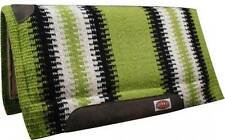 "Showman LIME GREEN 36""x 34"" Wool Top Memory Felt Bottom Cutter Style Saddle Pad!"