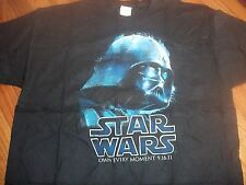 STAR WARS official rare Blu-Ray 2011 promo t-shirt Adult XL MINT DARTH VADER