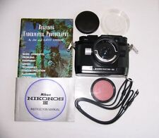 Vintage NIKONOS-III  WITH 28mm/3.5 and instruction. Clean