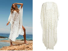 Women's Long Beach Dress Sexy Lace Crochet Bikini Swimwear Cover Up Bathing Suit