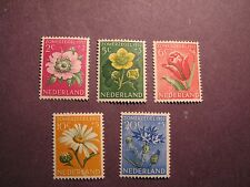 Netherlands Stamp Scott# B238-42 Flower Designs 1952 MNH C44