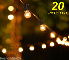 20 Metre LED Vintage Edison Clear Festoon / Party Light Kit