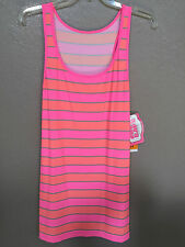 $50(NWT) Coco Rave Pink Racer Back Stretch Dress Swimsuit Bikini Cover Up Size S