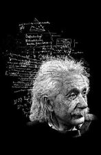Framed Print - Albert Einstein (Poster Picture E=MC2 German Physics Genius Art)