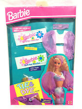 Barbie Doll Mattel Vintage 1993 Fashion Clothes Tie Dye Kit Accessory Purple