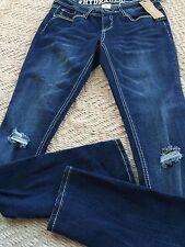 HYDRAULIC Junior Girls Lola Curvy Skinny Jeans Size 0 Perfect Fit, Denim NWT